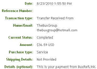Четвертая выплата с BuxRefLink.com