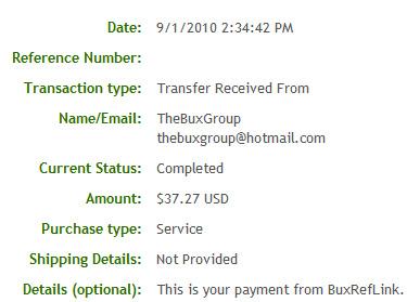 Пятая выплата с BuxRefLink.com