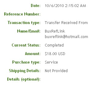 Седьмая выплата с BuxRefLink.com