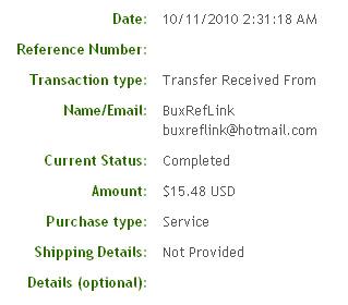 Восьмая выплата с BuxRefLink.com