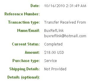 Девятая выплата с BuxRefLink.com