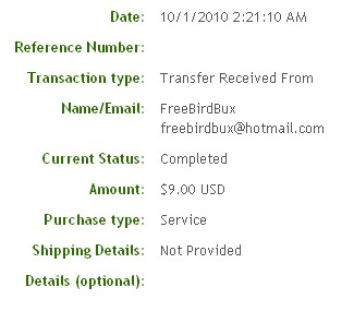 Первая выплата с FreeBirdBux.com