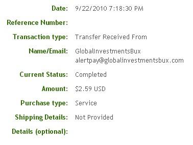 Первая выплата с Globalinvestmentsbux.com