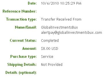 Третья выплата с Globalinvestmentsbux.com