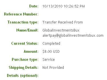Четвертая выплата с Globalinvestmentsbux.com