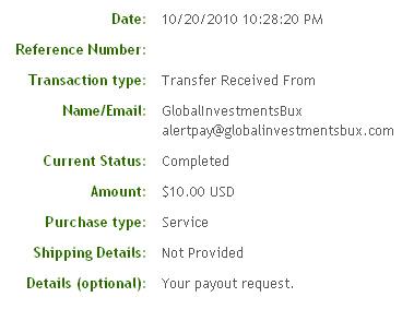 Пятая выплата с Globalinvestmentsbux.com