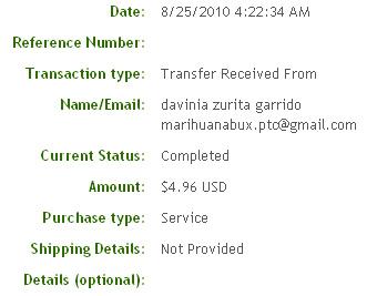 Двадцать пятая выплата с Marihuanabux.com