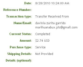 Двадцать шестая выплата с Marihuanabux.com