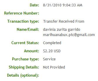 Двадцать седьмая выплата с Marihuanabux.com