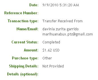 Двадцать девятая выплата с Marihuanabux.com