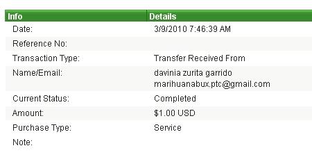 Четвертая выплата с Marihuanabux.com