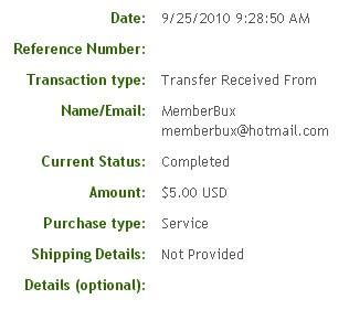 Вторая выплата с MemberBux.com