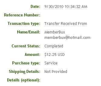 Третья выплата с MemberBux.com