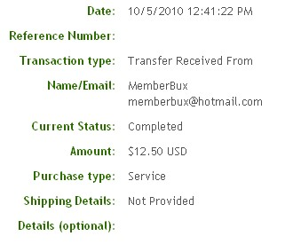 Четвертая выплата с MemberBux.com