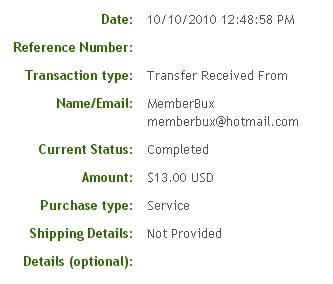 Пятая выплата с MemberBux.com