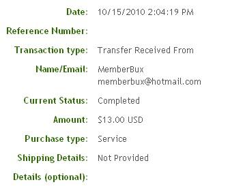 Шестая выплата с MemberBux.com