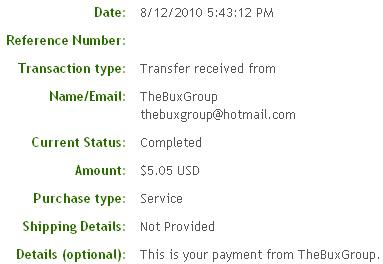 Вторая выплата с TheBuxGroup.com
