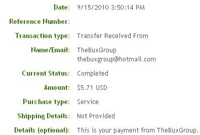 Четвертая выплата с TheBuxGroup.com