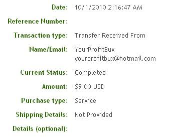 Первая выплата с YourProfitBux.com