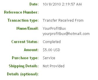 Вторая выплата с YourProfitBux.com