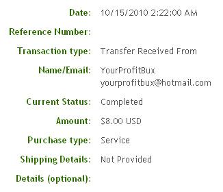 Третья выплата с YourProfitBux.com