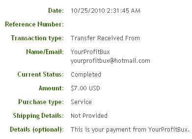 Четвертая выплата с YourProfitBux.com