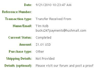 Одинадцатая выплата с Bucks247.com