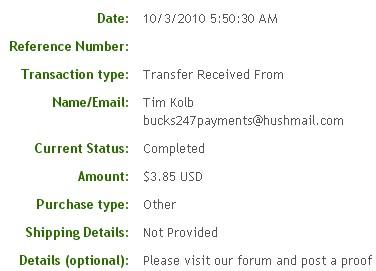 Тринадцатая выплата с Bucks247.com