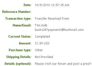 Четырнадцатая выплата с Bucks247.com