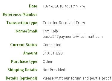 Пятнадцатая выплата с Bucks247.com