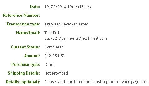 Шестнадцатая выплата с Bucks247.com