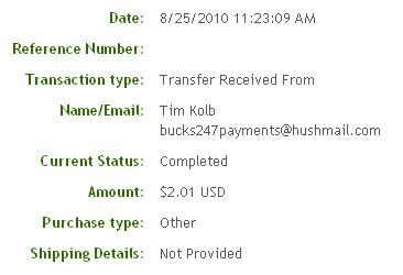 Восьмая выплата с Bucks247